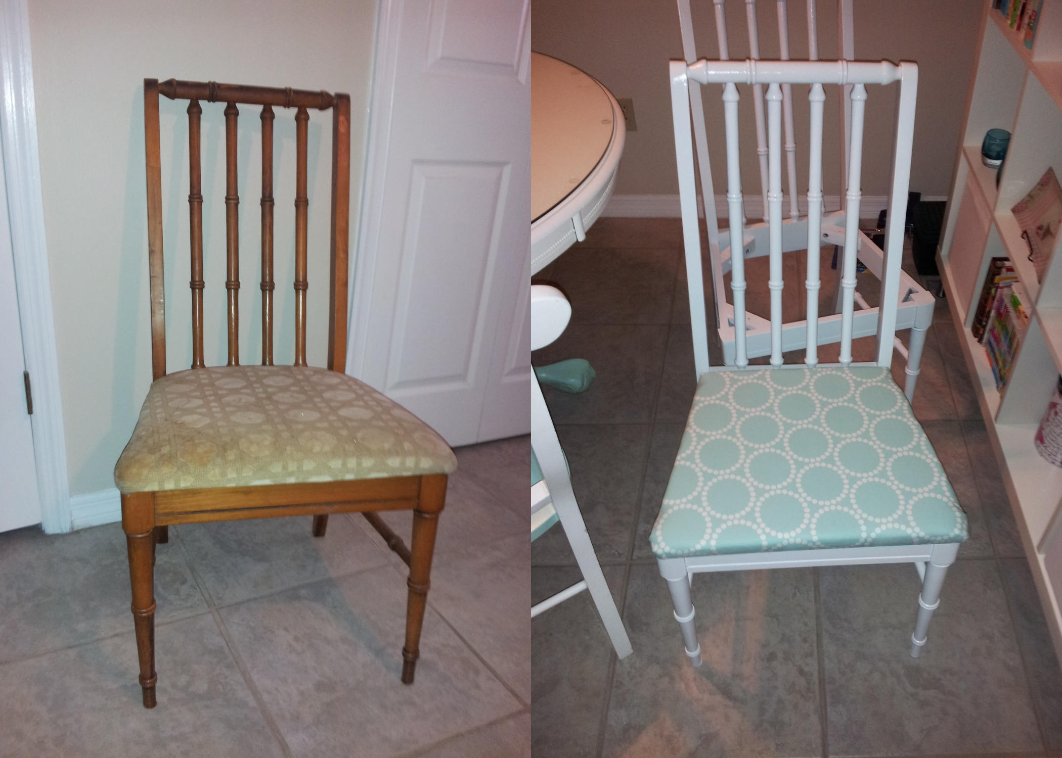 Thrift Store Chair Redo - Find out more at frommarriedtomerry.wordpress.com