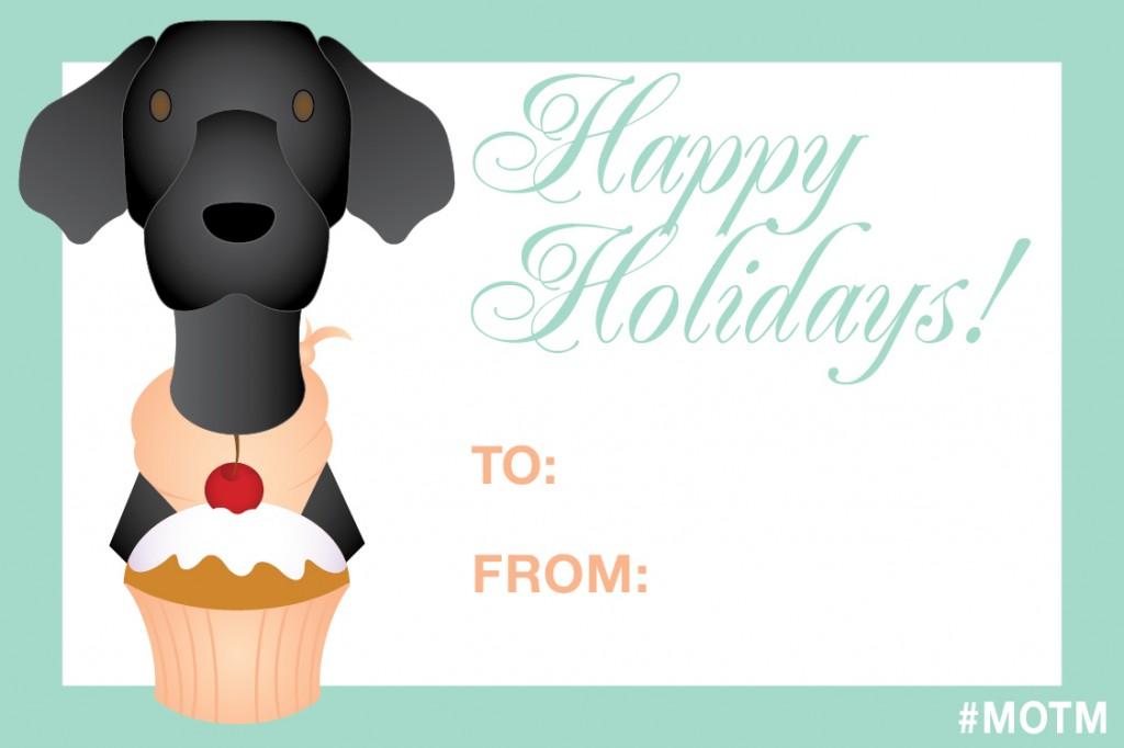 FREE Puppy Holiday Gift Tags