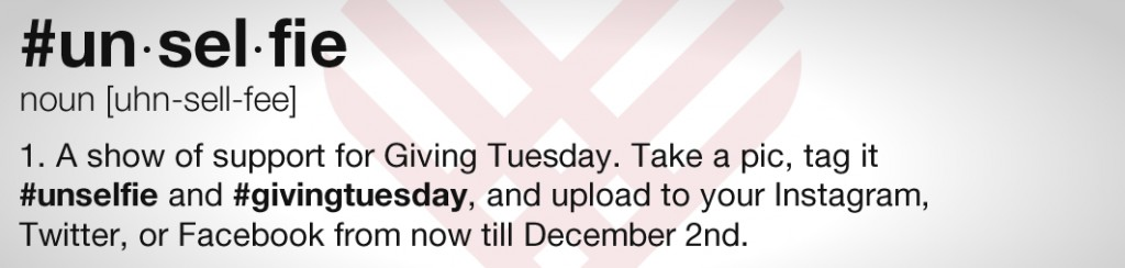 GKTW giving tuesday #unselfie #givingtuesday