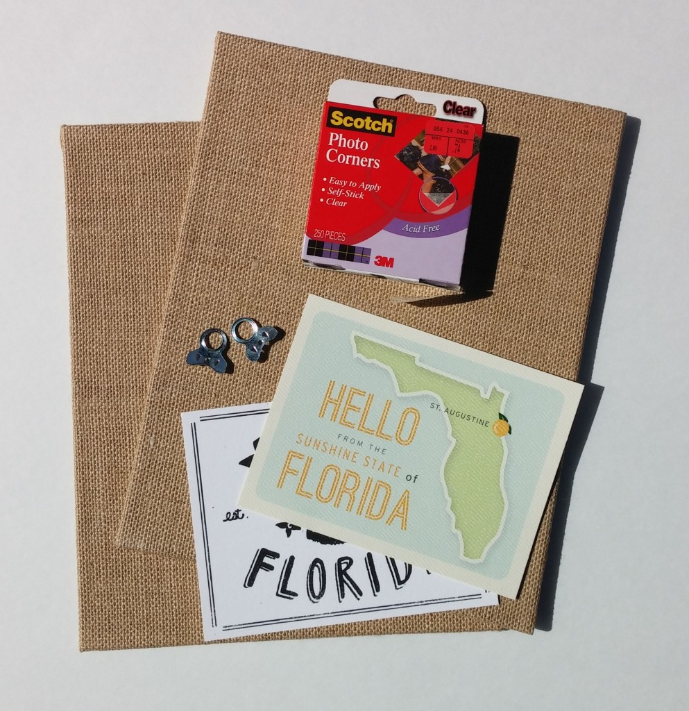 30 Day Creative Challenge - Easy Postcard Framing