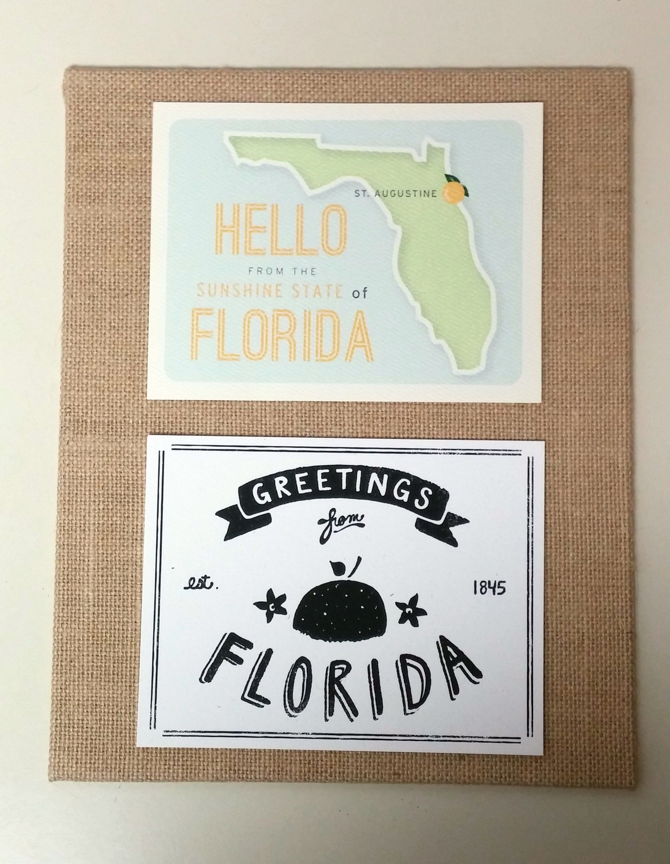 30 Day Creative Challenge – Easy Postcard Framing | Meghan on the Move