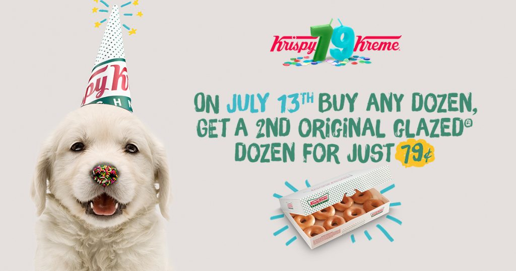 Birthday Week: Krispy Kreme Doughnuts Celebrates 79th Birthday