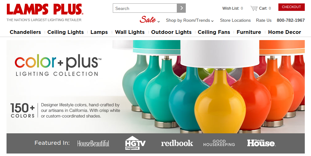 Light Up Your Home with Color + Plus Lighting by Lamps Plus