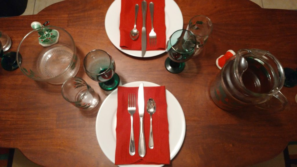 Christmas Dinner Decorating with Goodwill
