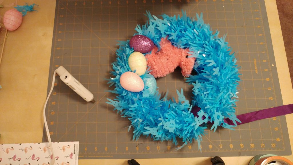 Last Minute $5 DIY Easter Wreath
