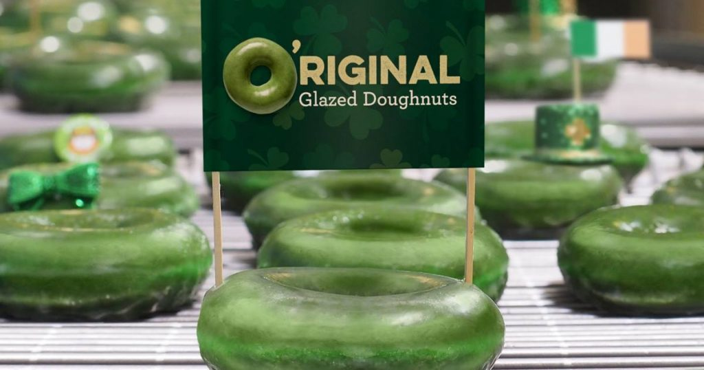 Krispy Kreme O'Riginal Glazed Doughnuts are Turning Green