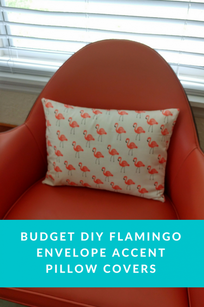 Budget DIY Flamingo Envelope Accent Pillow Covers