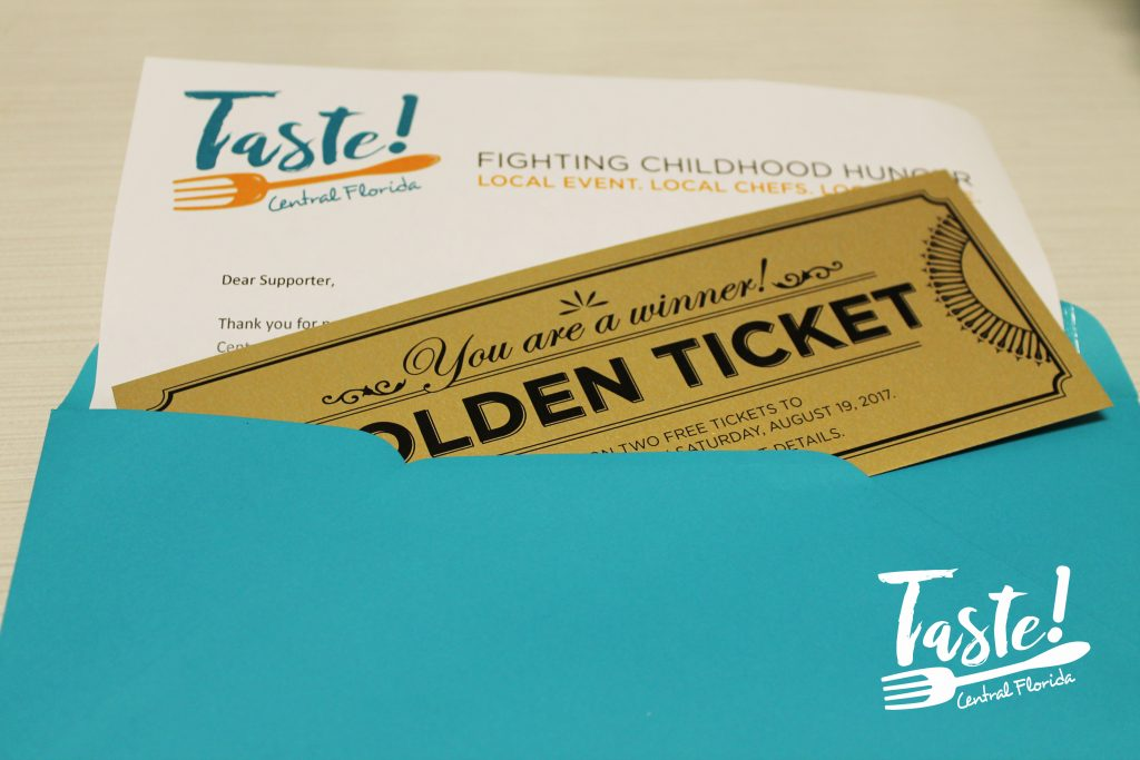 Taste! Central Florida 2017 Golden Ticket Raffle