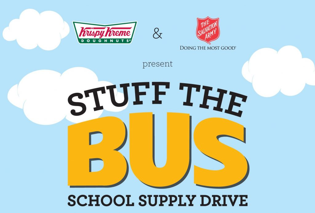 "Krispy Kreme and The Salvation Army ""Stuff the Bus"" to Benefit Central Florida Students"