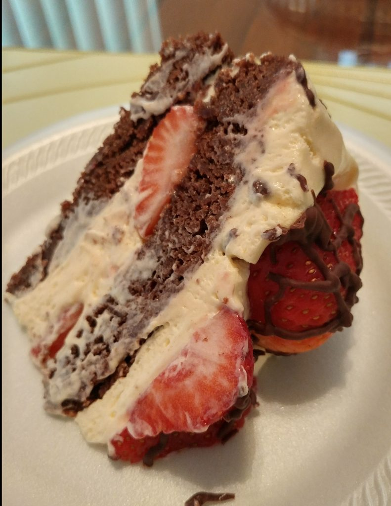 Family Favorites Friday - Strawberry Brownie Cake