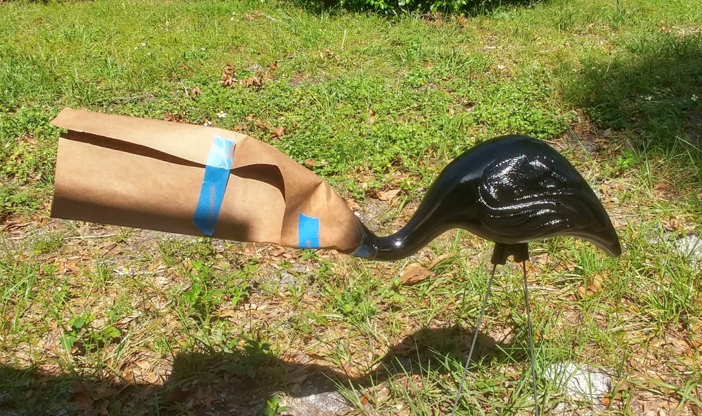DIY Halloween Flamingo Vulture