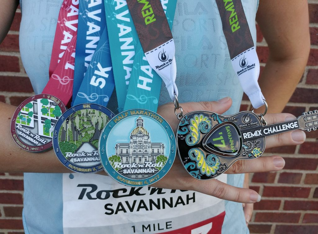 Races #10 and #11 - Rock N Roll Savannah 5k and 1 miler