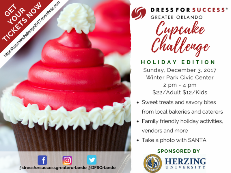 Cupcake Challenge: Holiday Edition Benefiting Dress for Success Greater Orlando