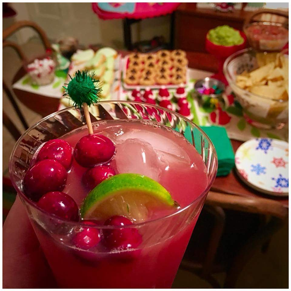 Christmas Cocktails - Orange Cranberry Margaritas