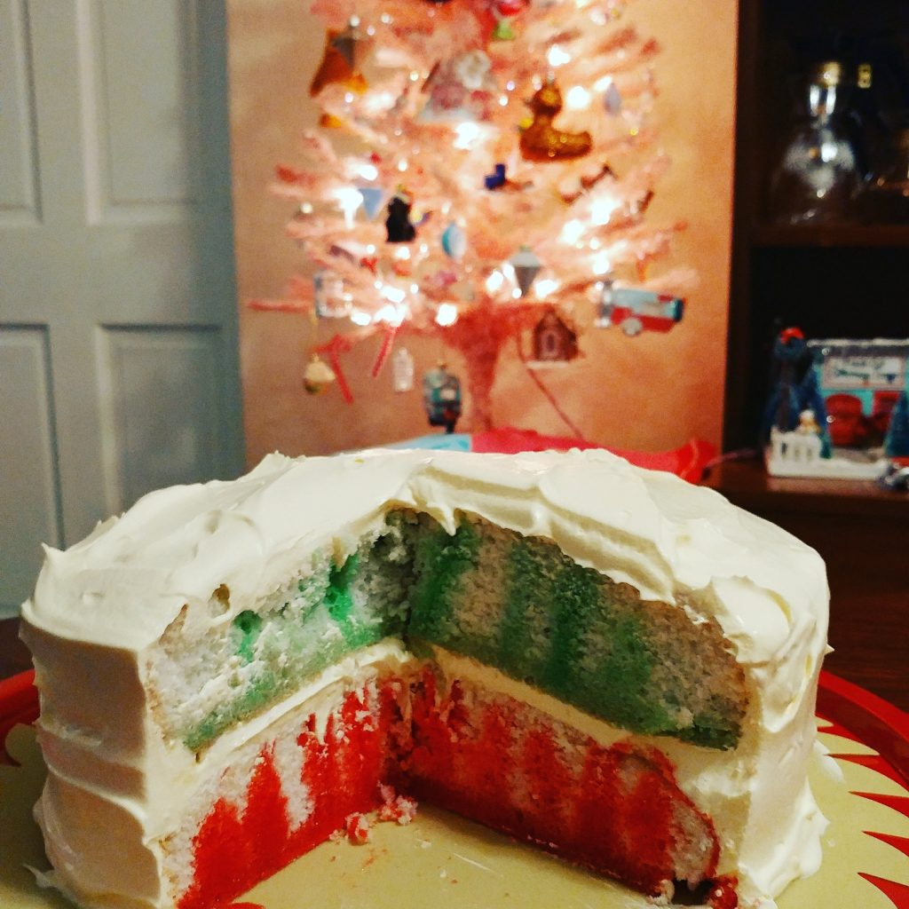 Family Favorites Friday - Christmas Jello Poke Cake