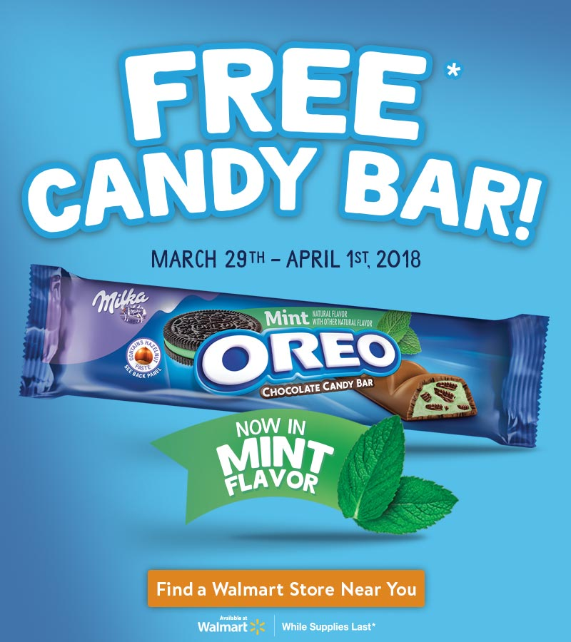 OREO Chocolate Candy Bar In-Store Demo at Walmart