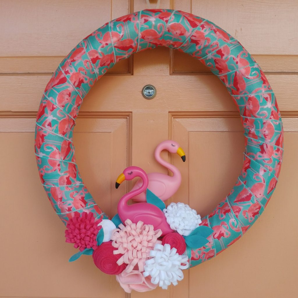 DIY Budget Flamingo Wreath