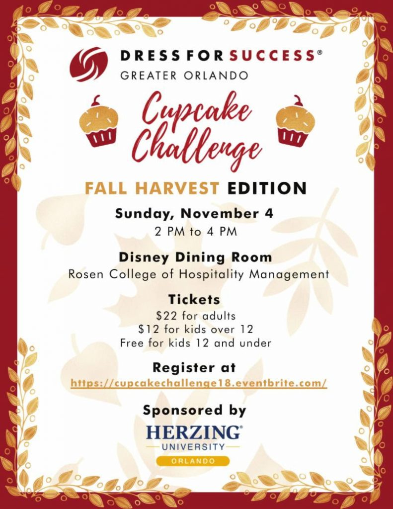 Dress for Success Greater Orlando's Cupcake Challenge - November 4th