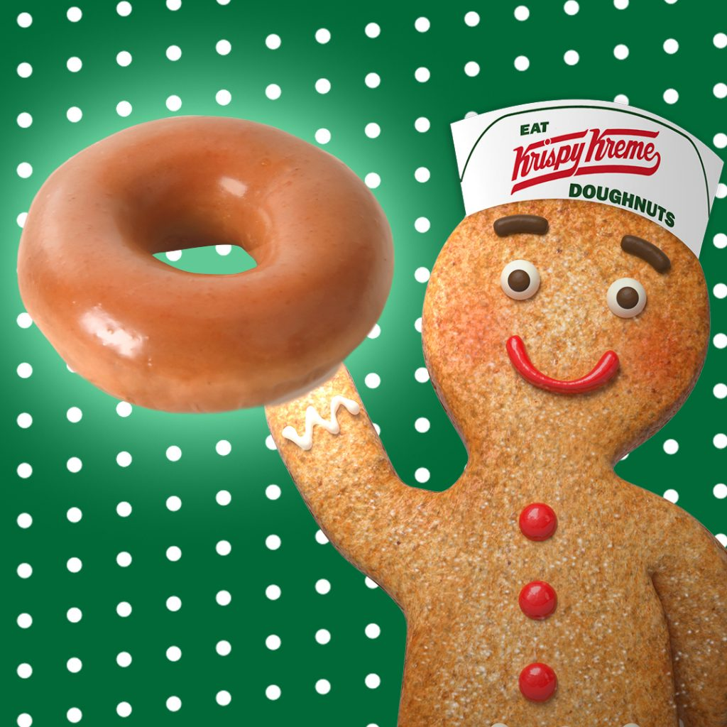 Krispy Kreme Doughnuts Saves Gingerbread People of America with Return of Gingerbread Glazed Doughnut