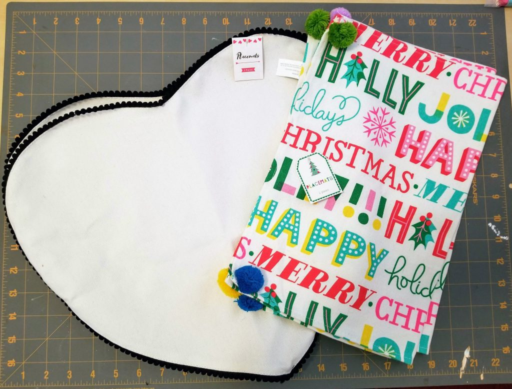 Target Dollar Spot DIY Place Mat Holiday Pillows