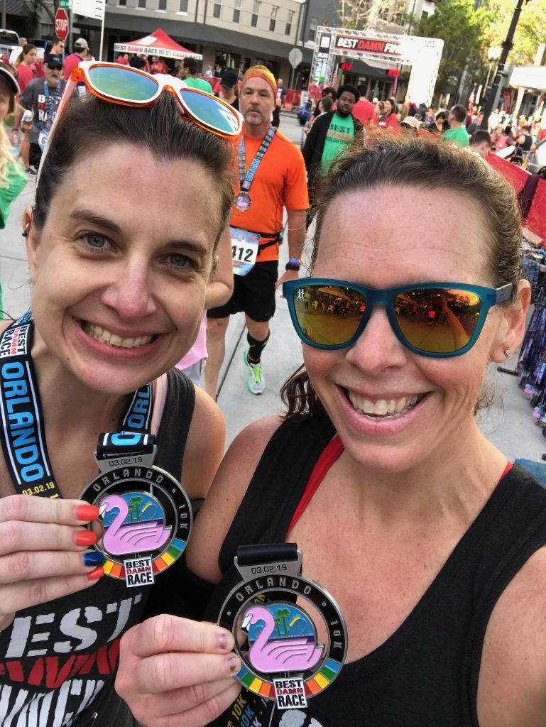 Race #4 and 5 of 2019: Best Damn Race Orlando 10k + 5k Challenge