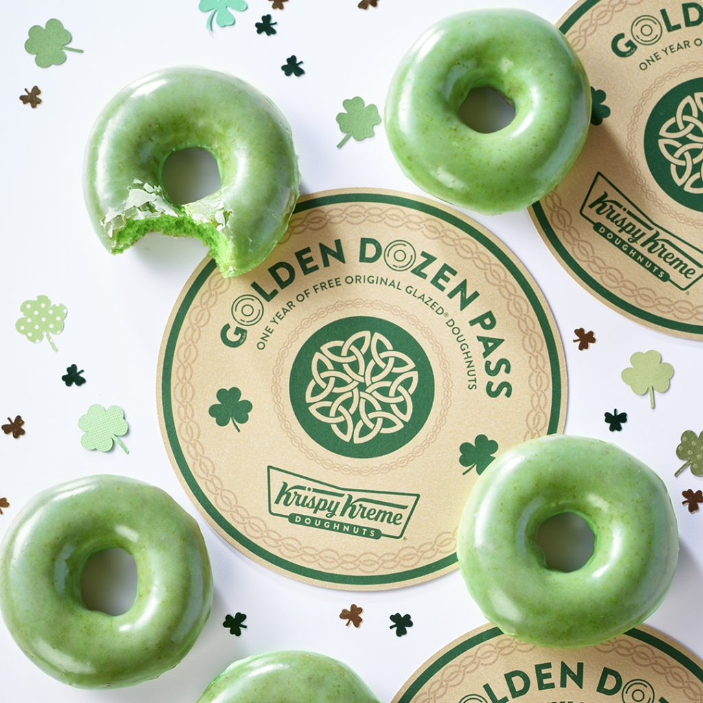 Krispy Kreme Doughnuts' Green O'riginal Glazed Doughnuts Return for St. Patrick's Day Weekend