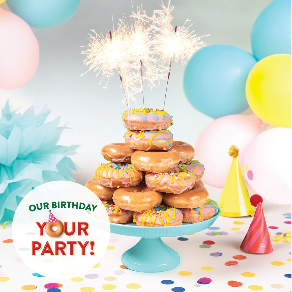 Let's Party! Krispy Kreme® Celebrates MY Birthday with Special Release Original Filled Birthday Batter Doughnut