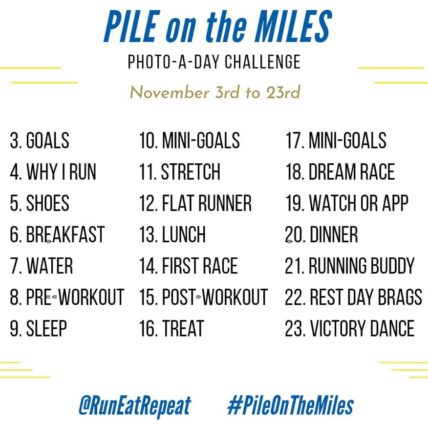 Run Eat Repeat's Pile on the Miles 21 Day Challenge