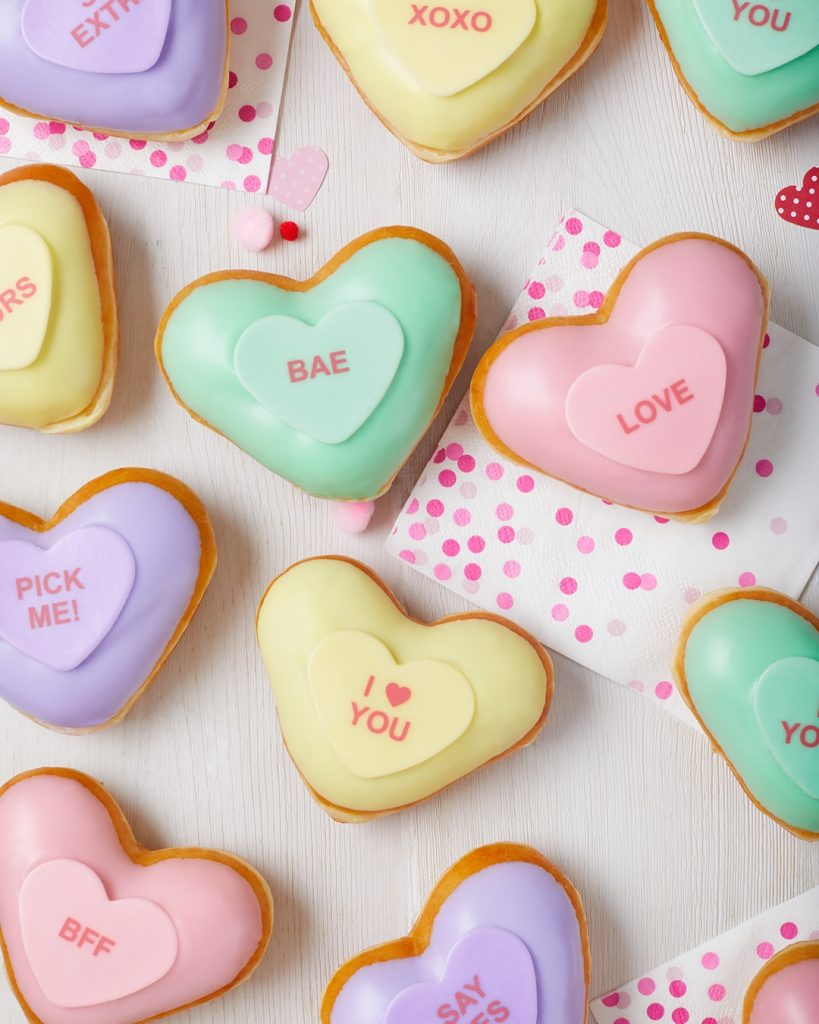 Krispy Kreme® Makes it Easy to Say How You Feel This Valentine's Day with Conversation Heart Doughnuts