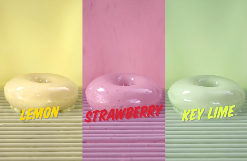 Krispy Kreme® Brings Three Fruit-Flavored Glazes 'Fresh off the Line'