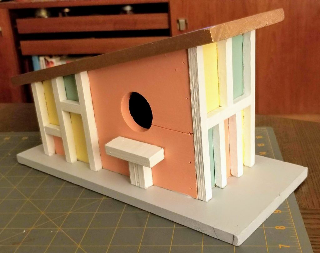 DIY Mid Century Modern Birdhouse Project