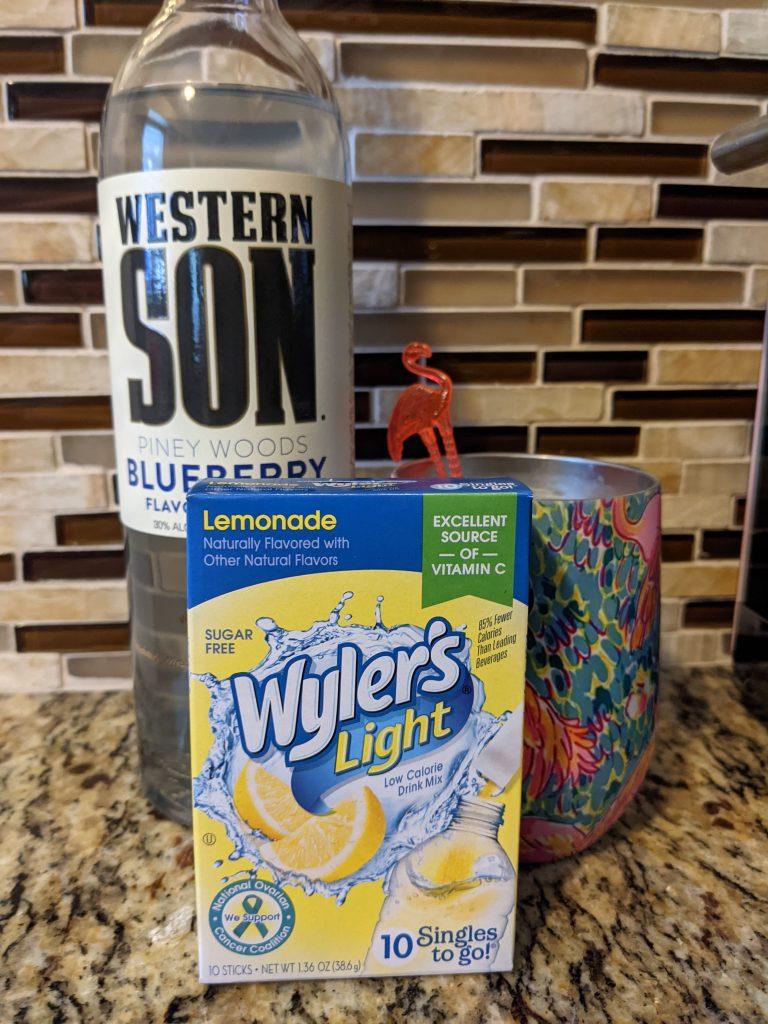 Western Son Blueberry Vodka Lemonade Cocktail